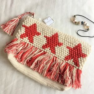 NWT Shiraleah Chicago Star Pouch bag with tassels